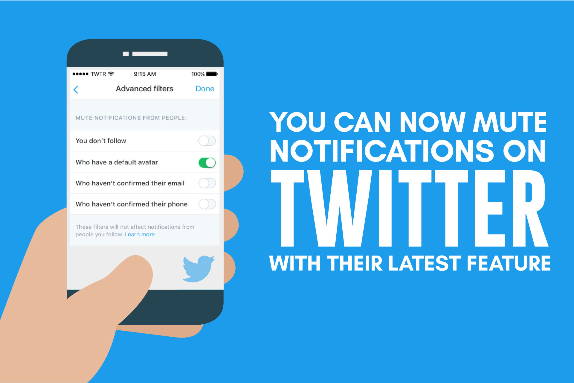 You can now mute notifications on Twitter with their latest feature